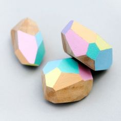 DIY geometric wooden beads