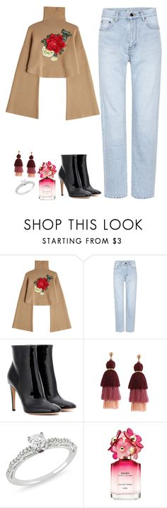 """""""The light from your eyes"""" by arianabut1993 on Polyvore featuring moda, William Fan, Yves Saint Laurent, Gianvito Rossi, Ice y Marc Jacobs"""