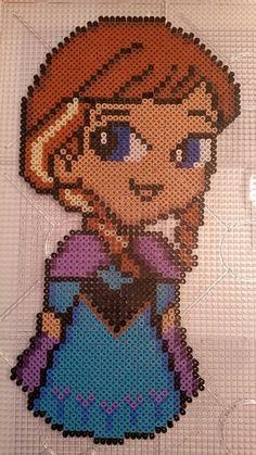 Anna from Frozen - Frost - Perler beads - Hama