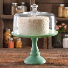 "Pioneer Women Timeless Beauty 10"" Cake Stand with Glass Cover"