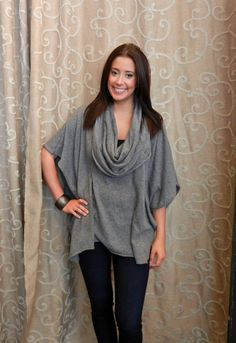 Grey Cowl Neck Sweater    https://www.facebook.com/apricotlanezonarosa?ref=hl