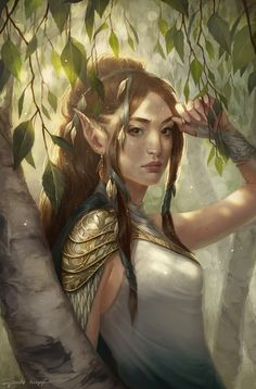 Find images and videos about art, fantasy and elf on We Heart It - the app to get lost in what you love. Fantasy Kunst, Fantasy Rpg, Fantasy Girl, High Fantasy, Medieval Fantasy, Fantasy Portraits, Character Portraits, Fantasy Artwork, Character Art