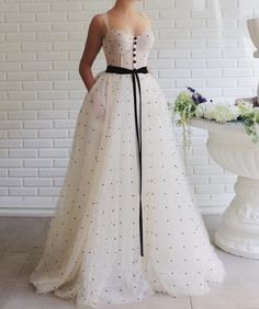 Princess White Tulle A-line Sweetheart Prom Dress With Sash-Pgmdress Fashion Mode, Party Fashion, Look Fashion, Petite Fashion, Ladies Fashion, Men Fashion, Korean Fashion, Spring Fashion, Fashion Tips