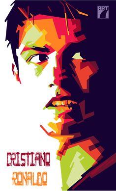 Football Art, Ronaldo Football, Football Fever, Cristiano Ronaldo Manchester, Pop Art Portraits, Celebrity Caricatures, Vector Portrait, Arte Pop, High Art