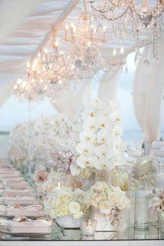 20 Pure White Wedding Decor Ideas by Remona