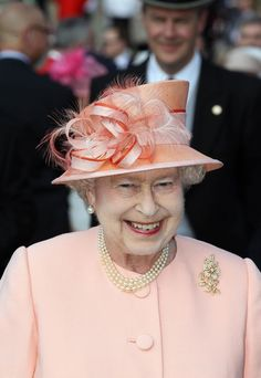 The Queen at the first Buckingham Palace garden party of the summer