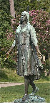 Statua di Pocahontas a Jamestown