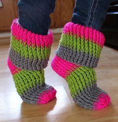 Happy Feet Slippers Crochet Pattern Download
