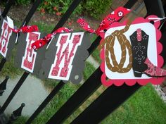 Cowboy/Cowgirl/Western Deluxe Happy Birthday Banner by 62Cards, $35.00