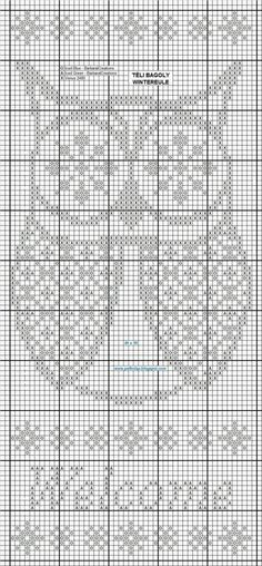 Owl number two - free cross stitch pattern