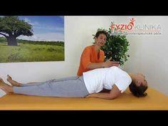 Záklon hrudní páteře vleže na zádech - joga pozice ryby - YouTube Back Pain Relief, Health Fitness, Workout, Diet, Relieve Back Pain, Work Out, Fitness, Health And Fitness, Exercises