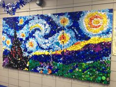 Plastic Lid Art | In the Studio: The Starry Night, Revealed!