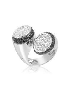Black And White Contrarie' Ring by Azhar