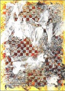 François Rouan – Mappe,- Laversine, 2003-2005. Peinture à la cire sur toile
