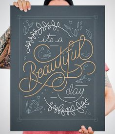 We kick of this week with a new collection of amazing hand lettering and calligraphy work. If you like what you see, be sure to check out hand lettering & Chalk Lettering, Types Of Lettering, Brush Lettering, Lettering Design, Typography Quotes, Typography Letters, Typography Poster, Hand Lettering Quotes, Hand Drawn Lettering