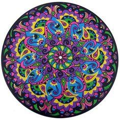 Paisley - Original Mandala Painting on Recycled Vinyl Record - Rare Bird Finds Mandala Design, Rare Birds, Mandala Painting, Sacred Art, Paisley Pattern, Elementary Art, Fractal Art, Sacred Geometry, Original Paintings