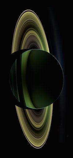 close up saturn