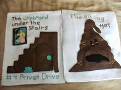 I made the book pages out of heavy pellon and sewed felt onto it for the pictures.