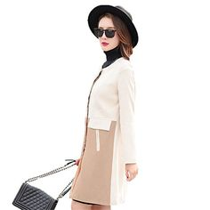 My Wonderful World Women's Single Breasted Long Wool Blazer Medium Camel White My Wonderful World Blazer Coat Jacket http://www.amazon.com/dp/B018DUEVF8/ref=cm_sw_r_pi_dp_jLTuwb016489Z