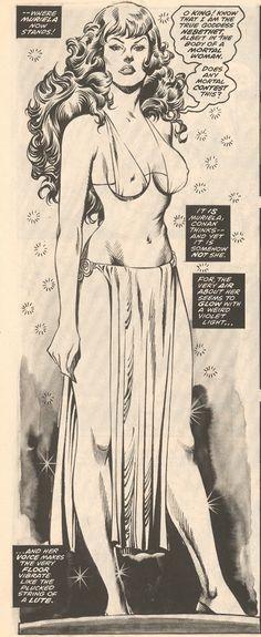 "Savage Sword of Conan ""The Ivory Goddess"". Savage Sword of Conan The Ivory Goddess. Best Comic Books, Comic Books Art, Comic Book Drawing, Bd Comics, Horror Comics, Comic Book Artists, Comic Artist, Beste Comics, John Buscema"