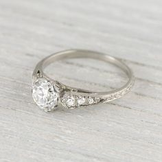 .94 Carat Art Deco Vintage Engagement Ring Circa 1920s. Would look better with 1 to 1 & 1/2 carat