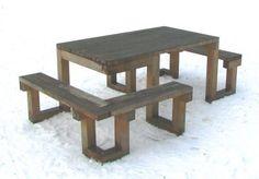 houten picknicktafel geschikt voor rolstoel