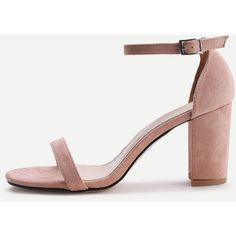 Two Part Block Heeled Sandals ($18) ❤ liked on Polyvore featuring shoes, sandals, apricot, color block shoes, colorblock shoes, block-heel sandals, block shoes and heeled sandals