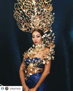 Bremen W Millinery National costume Hat  for Miss Universe Malaysia 2015 .   Fashion designer by Jovian Mandagi