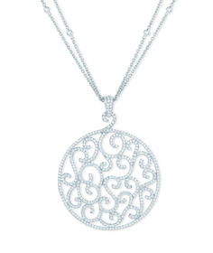 Stunnning diamond pavé white gold pendant on double strand white gold and diamond chain. Bridal Jewellery, Gold Jewellery, Jewelry, Gold Pendant, Diamonds, White Gold, Chain, Silver, Parties