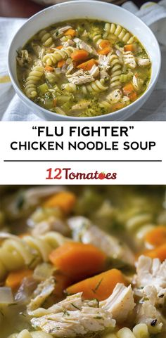 """Flu Fighter"" Chicken Noodle Soup                                                                                                                                                                                 More"