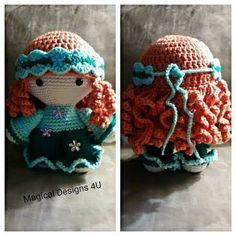 CROCHET - BIG HEAD DOLL - BABYDOLL YO-YO - <3 HAIR - HIPPIE - Big Head Baby Doll