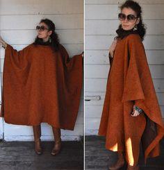 Alberta FERRETTI Wool PONCHO Oversized Cape Poncho by ItaLaVintage