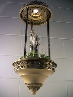 Vintage 30-In Rain Oil Motion Lamp Lady & Dog Hanging Swag Light – EclectiquesBoutique.com