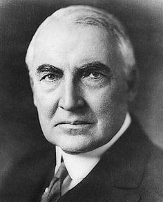 Warren Gamaliel Harding is seen in a portrait while he was still Senator…