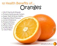 10 Health Benefits of Oranges.