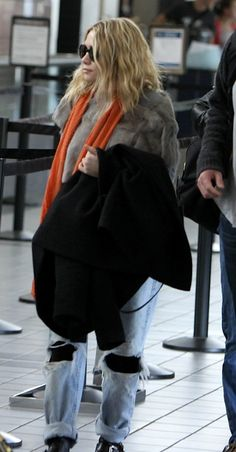 Ashley at the airport.