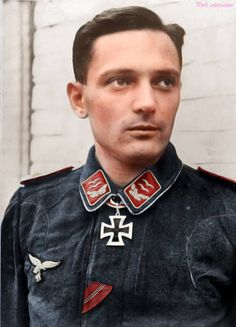 Oberleutnant Herbert Barrels Commandant of 3./Flak-Regiment 293 when he received the Knight Cross of the iron cross.