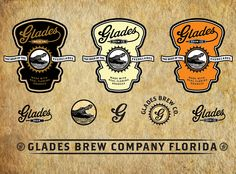 Glades Beer Labels by David Cran