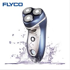 Cuerpo Máquina de Afeitar Lavable Máquina de Afeitar Eléctrica Cabezal de Corte Flyco 3D Inteligente 110-240 v 4 W Triple Cuchillas de Afeitar LCD FS359 maquinilla de afeitar para Los Hombres