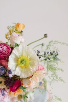 Perfect poppy | Lindsay Coletta Designs | Rustic White Photography | http://burnettsboards.com/2013/11/creating-bridal-bouquet/