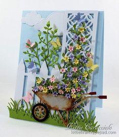 Garden Trellis and Wheelbarrow