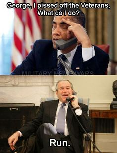 Obama pissed off veterans. He has no respect for them at all. God bless them!