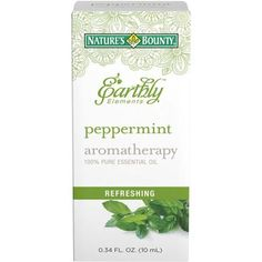 Nature's Bounty Earthly Elements Aromatherapy Peppermint 100% Pure Essential Oil, 0.34 fl oz - Walmart.com