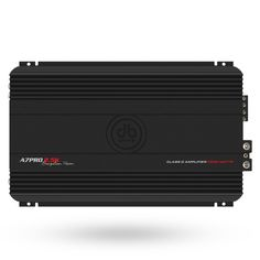 A7PRO 2.5K Class D Monoblock Amplifier / 2500 Watts  Features: Class D Monoblock Amplifier Output Power rated @ 14.4 volts • 1 x 2500 Watts @ 1 Ohm • 1 x 1250 Watts @ 2 Ohm • 1 x 625 Watts @ 4 Ohm Variable Low Level Input 24dB per Octave low Pass X-over 24dB per Octave Subsonic / Band pass filter Variable 0dB – 9dB Bass Boost @ 45Hz Direct Connect Speaker terminals Large gauge Power Wire Inputs Speaker Short Circuit Protection Bass Remote Included