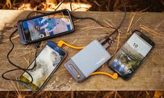 With attached Mirco-USB and Apple Lightening Cables, the ability to charge three devices at once, and scalability through 'stacking,' the EnerPlex Jumper Stack series is our favorite battery pack to date.