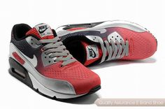 pretty nice 0172e 48127 nike air max 90 prm em unisex gray and red sneakers p 2427