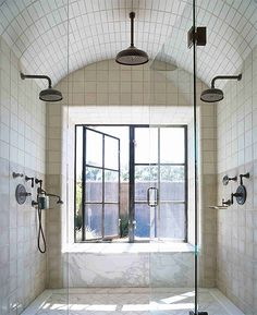 My dream shower in my dream house. Not my Tiny House. Bad Inspiration, Bathroom Inspiration, Dream Bathrooms, Beautiful Bathrooms, Luxury Bathrooms, Contemporary Bathrooms, Home Goods Decor, Home Decor, Luxury Shower