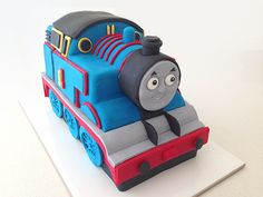 3D fondant thomas train cake tutorial with VIDEO http://howtocookthat.net