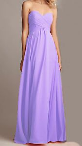 Long-Chiffon-Bridesmaid-Dress-A-Line-Formal-Ball-Party-Prom-Gown-Size2-4-6-8-10