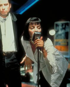 Pulp Fiction - Publicity still of John Travolta & Uma Thurman Mia Wallace, Movie Shots, Movie Tv, Uma Thurman Pulp Fiction, Quentin Tarantino Films, Film Aesthetic, John Travolta, Iconic Movies, Great Films